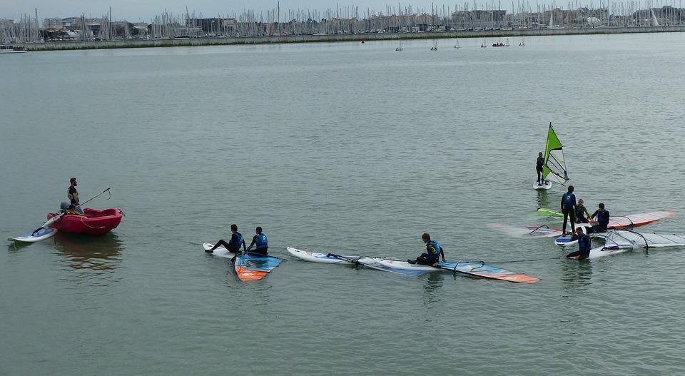 obóz windsurfingowy - ćwiczenia